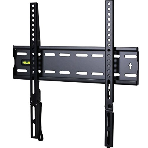 "VideoSecu Ultra Slim TV Wall Mount for most 27""-47"" LCD LED Plasma TV, Some up to 55"" Flat Panel Screen Display with VESA 100x100 200x100 200x200 300x200 400x300 400x400 1"" Low Profile TV Bracket 1RX"