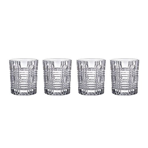 Fitz and Floyd 329050-4OF Portland old Fashion Glasses (Set of 4), Clear