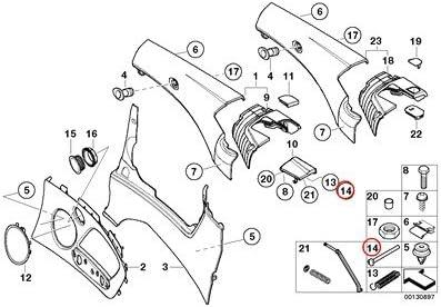 2 X BMW Genuine Lateral Trim Panel Rear Push Rod 323Ci 325Ci 330Ci M3