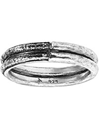 Men's 'Blacksmith' Sterling Silver Textured Band Ring