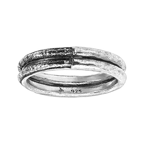 (Silpada Men's 'Blacksmith' Textured Band Ring in Sterling Silver)
