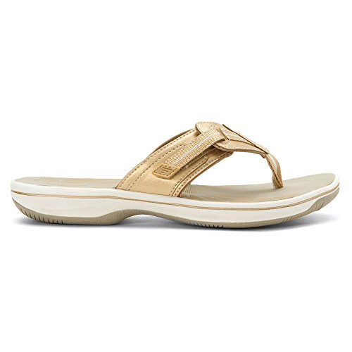Flop Flip Brinkley Women's Clarks Jazz Gold 68UWx