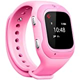 Trak Smart Watch specially designed for 3-12 year girls - India's smartest kids wearable GPS tracker smart watch & activity tracker with 2 way calling, voice messages (Pink)