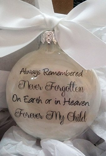 Special Needs Cot - Memorial Ornament - On Earth or in Heaven, Forever My Child - In Memory Christmas Keepsake