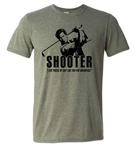 Zepp Tees Shooter McGavin Golf T-Shirt Weekend Hackers Gift for Dad Heather Military Green