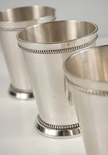 Richland Mint Julep Cups 4'' Silver Plated Set of 6 by Richland