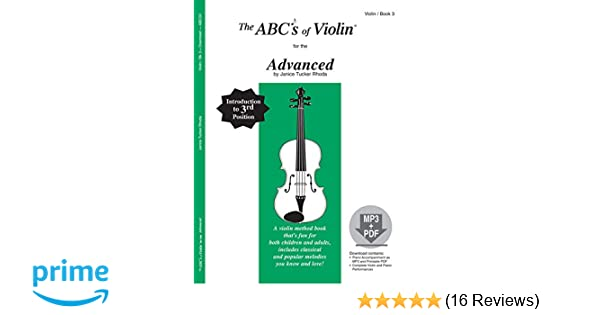 Amazon com: The ABCs of Violin for the Advanced, Book 3 (Book & MP3