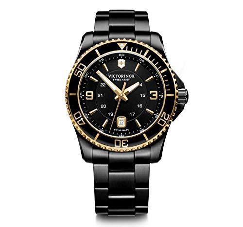 Victorinox Maverick Analogue Men's Watch (Black Dial Black Colored Strap)