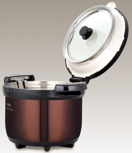 THERMOS vacuum thermal insulation cooker shuttle chef 3.0L clear brown KBG-3000 CBW by Thermos (Image #2)