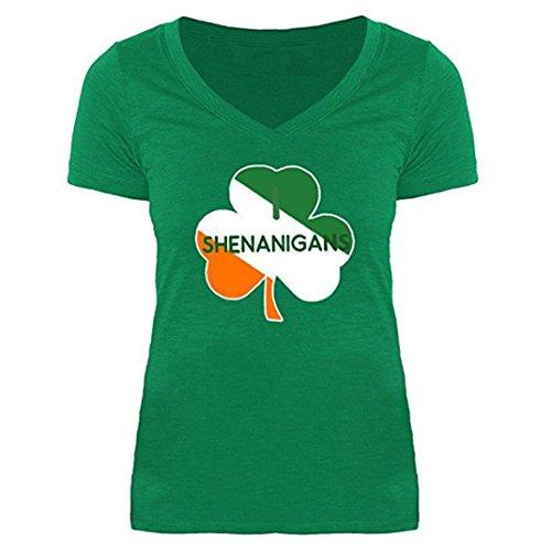 (Forthery Womens Irish Studded Shamrock St. Patrick's Day Jersey T Shirt (Green, S))