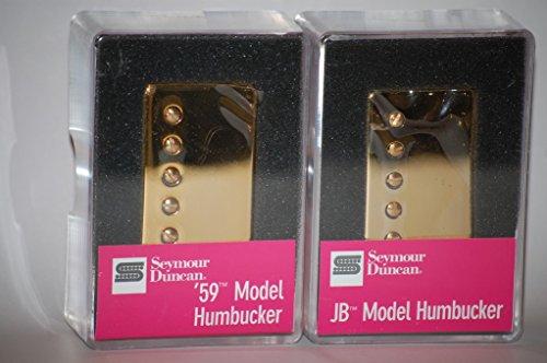 Seymour Duncan SH-4 JB Bridge & SH-1n 59 Neck GOLD Humbucker Pickup Set