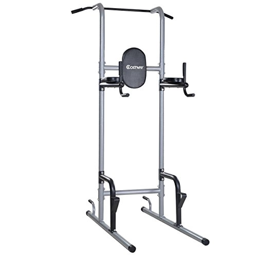 Goplus Chin Up Power Tower Rack Pull Up Stand Bar Leg Raise Home Gym Workout Weight by Goplus