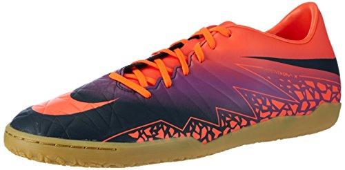 Nike Men's Hypervenom Phelon II IC Indoor Soccer Shoe, Crimson/Purple
