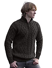 West End Merino Wool Half Zip Irish Sweater