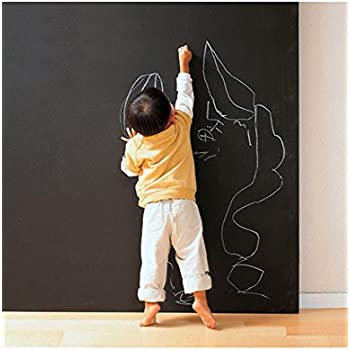 PeterIvan Black Board Stickers - Dry Erase Board Sticker for Home, Office, Stores Messages Use, Chalkboard Sticker(17.71*78.74inch), made of ECO-Friendly PVC, Good for Kids Education & DIY Works