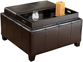 Christopher Knight Home Tray Top Storage Ottoman
