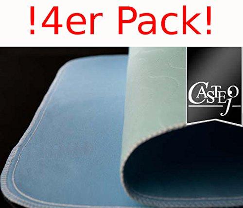 !4er PACK Castejo Inkontinenzunterlage 90x75cm blau/grün CA3302/C Inkontinenzauflage waschbar nur 1xPorto