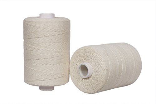 Warp Thread for Weaving Loom - 1 Spool of 850 Yards 8/4 Warp Yarn 100% Cotton - Natural/Off White Color - Perfect Warping Thread for Weaving Tapestry, Carpet,Rug, Blanket and Other Patterns by Crafteza