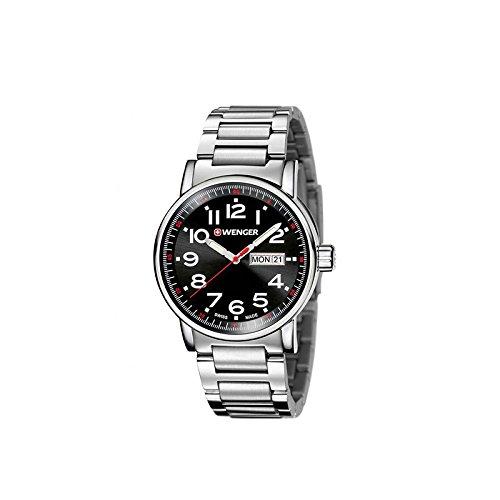 WENGER Reloj Analógico para Unisex Adultos de Cuarzo con Correa en Acero Inoxidable 01.0341.104: Amazon.es: Relojes