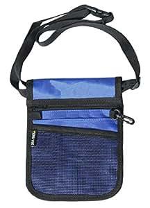 Nurse Pouch Extra Pocket Quick Pick Vet Agecare Bag with Belt Strap (Dark Blue)