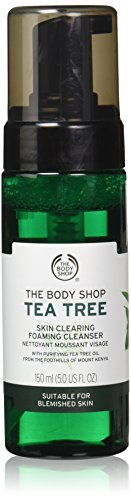 The Body Shop Tea Tree Skin Clearing Foaming Cleanser, Made with Tea Tree Oil, 100% Vegan, 5.0 Fl. Oz.