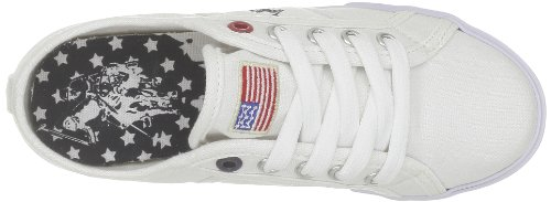 Us Polo Assn Bange2, Unisex-Kinder Sneakers Weiß (White)