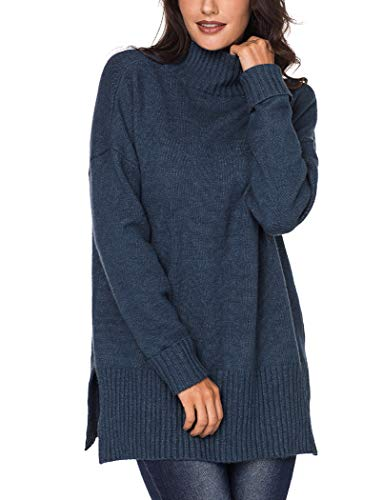 - YIHUAN Women's Turtle Neck Ribbed Knit Sweater