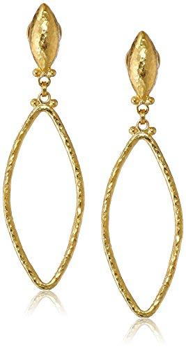 GURHAN Geo 24k Yellow Gold Marquise-Shape Drop Earrings, 1.9