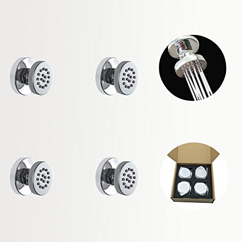 Body Spray Escutcheon - Homedec 4pcs Round Brass Massage Body Jet Spray Spayer for Spa Bath & Shower Faucet Set