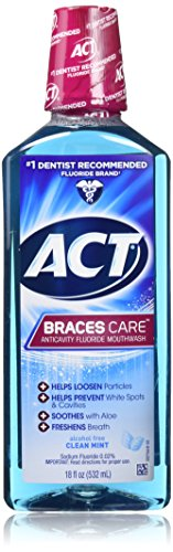 Act Braces Care Anticavity Flouride Mouthwash 18 Ounce 2 Pack from ACT