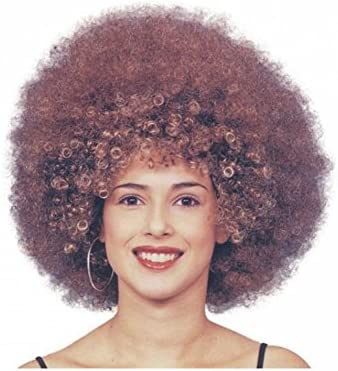 Beyoncé Afro Peluca – Marrón rizos – Mujer Hombre Rock Star Disco ...