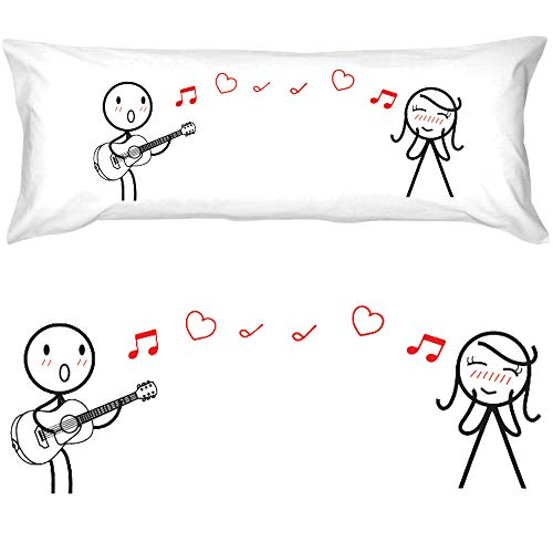 BoldLoft Love Me Tender Body Pillow Cover- Boyfriend Gifts, Husband Gifts, for Him, Valentines Presents, His and Hers Gifts, Gifts for Couples, Matching Couple Gifts