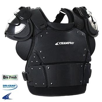 Champro Chest Protector - Champro Pro-Plus Plate Armor Chest Protector, Black, X-Large/15