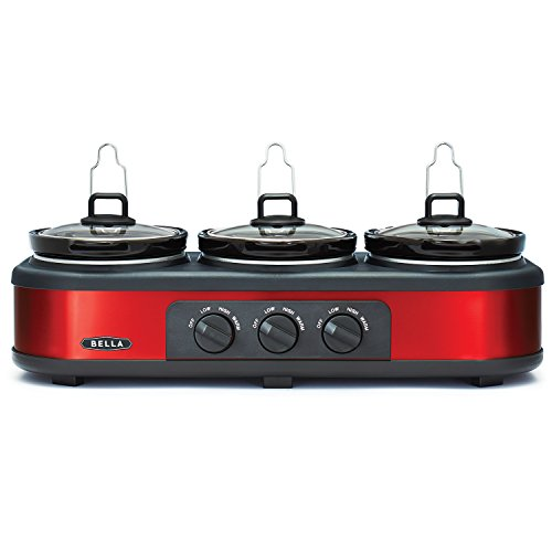 Triple Slow Cooker and Buffet Server In Red