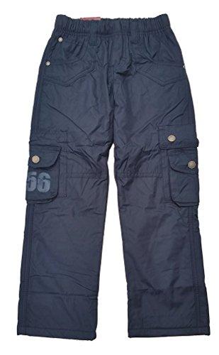 warme Jungen Thermohose, gefütterte Winterhose, in Blau, Gr. 104, JT152.4e