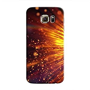 cover it up - Gold Exploding Galaxy S6 Edge Hard Case