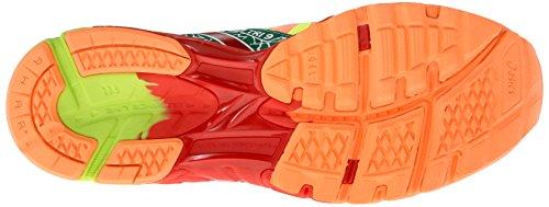 Asics Womens Gel-noosa Tri 9 Scarpa Da Corsa Arancione Brillante / Pepe Rosso / Giallo Flash