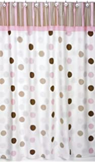 Pink And Brown Mod Dots Kids Bathroom Fabric Bath Shower Curtain By Sweet Jojo Designs