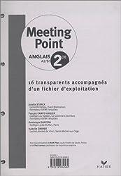 Meeting Point Anglais A2/B1 2e : 16 transparents accompagnés d'un fichier d'exploitation