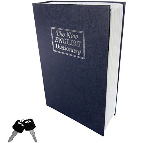 Evelots Home Dictionary Diversion Locking Book Safe Metal Full Size