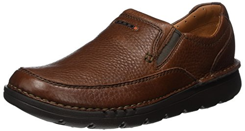 Clarks Unnature Easy, Mocasines para Hombre Marrón (Brown Leather)
