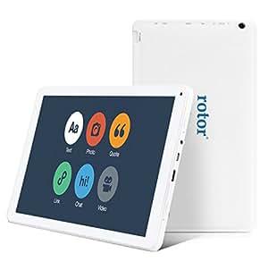 """rotor® 10.1 """"Octa (8) Core GPU - 5.0 Lollipop Android - Quad (4) Core CPU - 1 GB de RAM - Tablet PC - 16 GB Flash - Bluetooth 4.0 - GPS - WiFi - Wlan - HDMI - Google Play Appstore precargado - Compatible con todos los juegos 3D, música, Aplicaciones - Netflix - HD Crystal Clear Display - de doble cámara - Revestimiento Soft Touch - Diseño único - Color Blanco"""