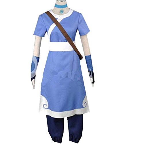 NSOKing Anime The Last Airbender Korra Water Tribe Outfit Cosplay Costume Halloween Outfit Custom (Mens:Medium, Blue Set) ()