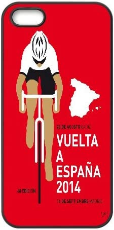 IPhone 5,5S Case, my VUELTA a ESPANA MINIMAL POSTER 2014 Case for IPhone 5,5S {Black}: Amazon.es: Electrónica