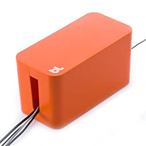 bluelounge cable box mini orange cell phones accessories. Black Bedroom Furniture Sets. Home Design Ideas