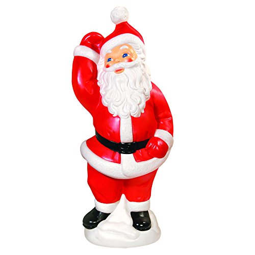 Blow Mold Santa - General Foam Plastics Dancing Santa, 40-Inch