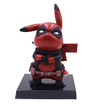 Amazon.com: SHDZKJ Pikachu Deadpool Cosplay Figura ...