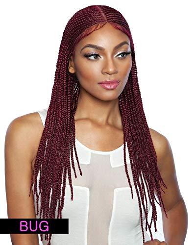"RCBI02 MINAJ 24"" (1B Off Black) - Mane Concept Red Carpet Synthetic Invisible Braid Lace Wig"