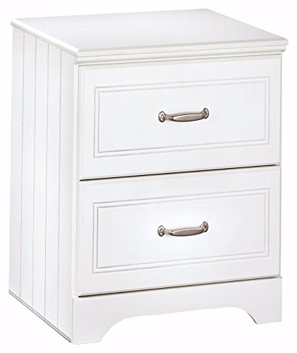Ashley Furniture Signature Design - Lulu Nightstand - 2 Drawers - Casual Styling with Crisp Finish - White by Signature Design by Ashley