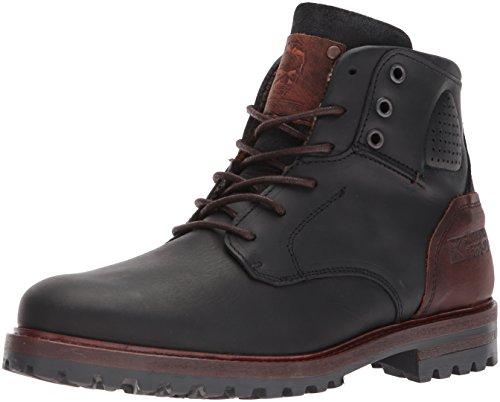 Steve Madden Mens Janis Ankle Boot Black Leather f9r8EAD